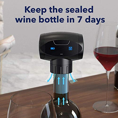 Wine Vacuum Stopper Saver  Electric Reusable Wine Bottle Vacuum Stopper  AAA Batteries not Included