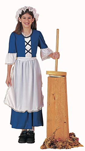 Forum Novelties Child's Colonial Girl Costume Dress, Medium