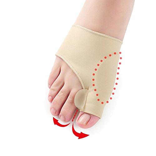 SISHUINIANHUA 2 Stücke = 1 Paar Big Toe Hallux Valgus Corrector Orthesen Fußpflege Knochen Daumen Teller Korrektur Pediküre Socken Bunion Haarglätter