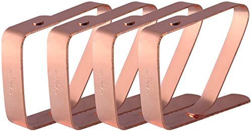 HUAFA 4 Pezzi Fermatovaglia,Rame di alta qualità placcato Ferma tovaglia, Fermatovaglia,Spessore massimo 5 cm (Oro rosa )