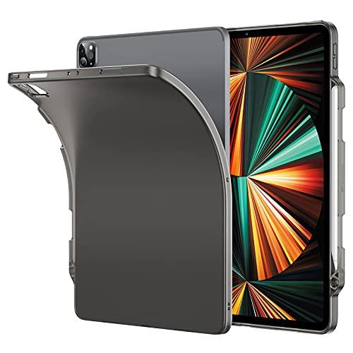 ESR Matte Hülle kompatibel mit iPad Pro 12.9 5G 2021, mit Stifthalter,Pencil 2 Unterstützung, Mattschwarz