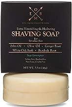 Premium Shaving Soap Bar – Sulfate Free, Natural & Organic Shave Soap for Men with Dry, Sensitive Skin (3.5 oz) Olive Oil, Palm Oil, Ginger Root & White Oak Bark in Sage Lemongrass Era-Organics