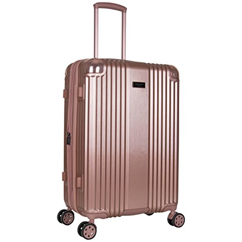 Kenneth Cole New York Tribeca 24-inch Lightweight Hardside Expandable 8-Wheel Spinner TSA Lock Checked Suitcase, Rose Gold