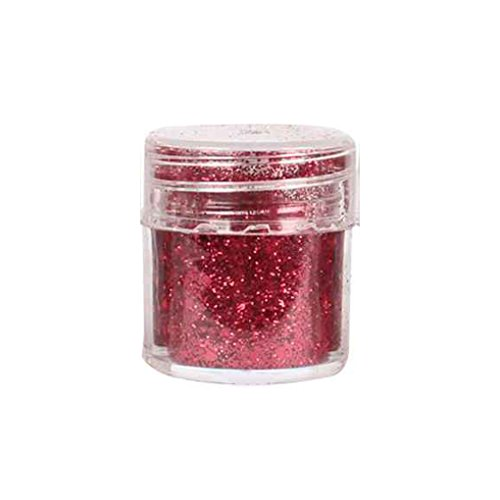 Fengyuanhong Wein-Rot-Farben mischen Nagel-Funkeln-Puder mit 1mm Paillette Paillette für Nail Art Dekoration 4-30