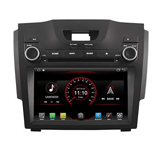 Autosion Android 10 Lecteur DVD de voiture GPS stéréo Radio Navi Radio Multimédia Wifi pour Chevrolet S10 Isuzu Dmax Holden Colorado 2012 2013 2014 2015 2016 2017 Support de commande au volant
