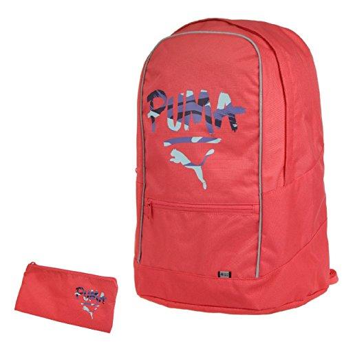 PUMA Pioneer Backpack Set, Rucksack mit Universalbeutel, (HxBxT 48x38x20 cm): Farbe: Cayenne