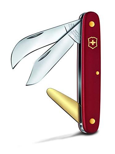 Victorinox Okulier-und Hakenmesser intradós 50 mm, Hoja Curvada de 51 mm, Cuchilla de latón, Color Rojo, Unisex Adulto, 100 mm