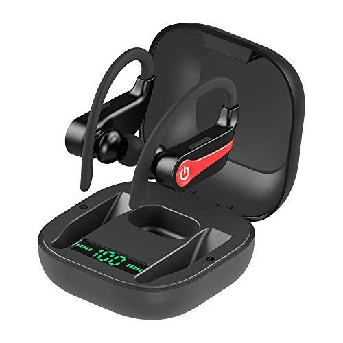 【最新版 耳掛け式 Bluetooth 5.0+EDR搭載】Bluetooth イヤホン スポーツ 落ちない 自動ペアリング 最大10H音楽再生 片耳&両耳とも対応 左右分離型 IPX7防水 Hi-Fi高音質 CVC8.0ノイズキャンセリング ワイヤレス