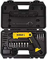 DEWALT 8V Li-Ion Screwdriver 21 Torque Positions And 1 For Drilling with 45pcs Accessories , Yellow/Black, DCF008-B5, 3...