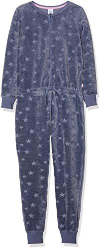 Sanetta Mädchen Jumpsuit Long Einteiliger Schlafanzug, Blau (New Jeans 5828.0), 104