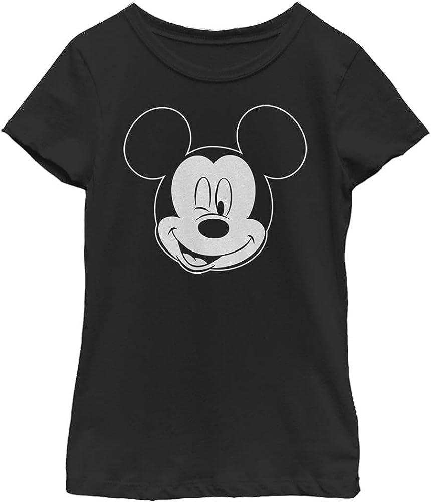 Disney Characters Let Me Sleep Outline Girl's Solid Crew Tee