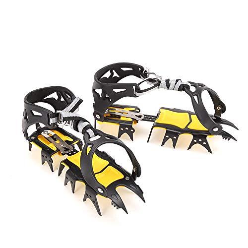 Tickas Crampones Profesionales para Hielo y Nieve, con Dientes de Tigre, Escalada al Aire Libre, Hielo, Antideslizante, para Cubrir ZAPA,Crampones Profesionales de Diente de Tigre para Hielo y Nieve