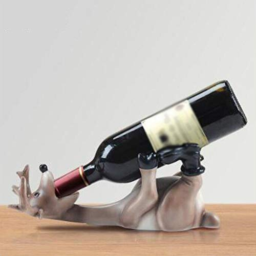 DAXINYANG - Botellero Europeo de Resina con diseño de Ciervo Borracho, para Sala de Estar, Oficina, Vino, decoración del hogar, Soporte para Vino, Manualidades, Color marrón