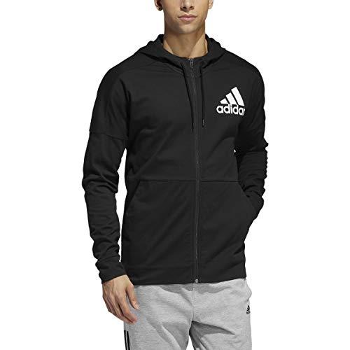 adidas Men's Sport Hoodie, Black/White, Medium
