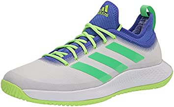 adidas Men's Defiant Generation Racquetball Shoe, White/Screaming Green/Signal Green, 13