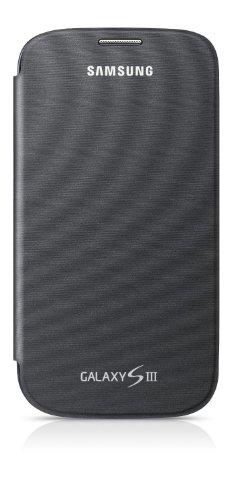 Samsung Hülle Schutzhülle Notebook Style Flip Cover Case für Samsung Galaxy S3 - Silbergrau