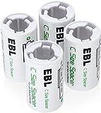 EBL 4 x Adaptador de Pilas AA a C