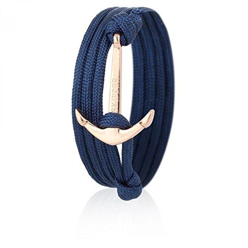 Skipper Anker-Armband mit Goldenem Edelstahl Anker für Damen und Herren - Marine 6625