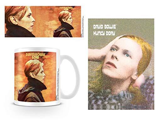 1art1 David Bowie, Low Foto-Tasse Kaffeetasse (9x8 cm) Inklusive 1 David Bowie Postkarte (15x10 cm)
