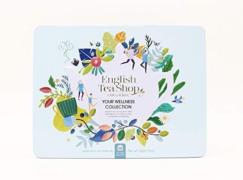 English Tea Shop Wellness Collection Selección de tés orgánicos y tés de hierbas hechos en Sri Lanka - 1 x 36 bolsitas de té (54 gramos)