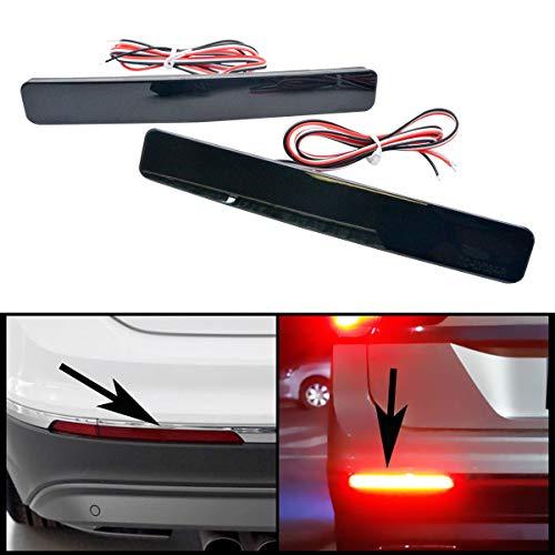 Maso - Lot de 2 réflecteurs de pare-chocs arrière LED noirs, antibrouillard, émettant une couleur rouge, pour VW Transporter T5, modèles 05-12