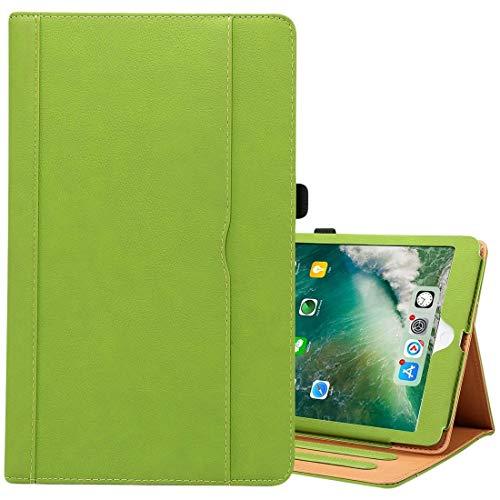 Ipad case For iPad 9.7 (2018) & iPad 9.7 inch (2017) & iPad Air 2 & iPad Air Cowhide Pattern PC Protective Case(Black) Asun (Color : Green)