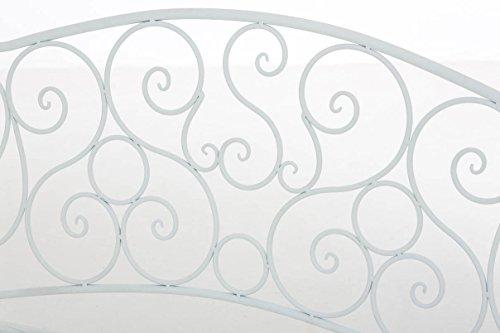 CLP Metall Gartenbank TUAN, 2-er Sitz-Bank Garten, Eisen lackiert, Design nostalgisch antik, 105 x 50 cm Weiß - 5