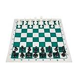 JHSHENGSHI Juego de ajedrez y Tablero Enrollable, Juguetes educativos de interacción Entre Padres e Hijos, ajedrez de Viaje portátil, 43 * 43 cm