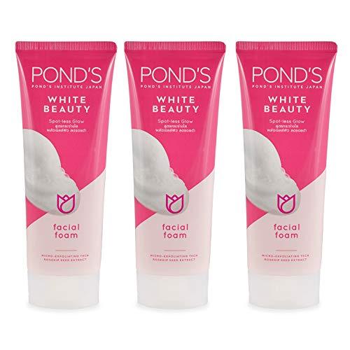 POND's Gesichtsreiniger White Beauty, Gesichtswasser, Aufhellung, bei Akne, Hautreinigung, 3 Stück, 50 g