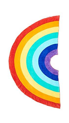 SunnyLIFE Xl gran tamaño del rectángulo de algodón Toalla Impreso Beach Blanket piscina Throw Un tamaño Arco iris