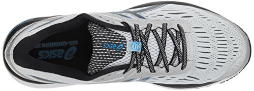 ASICS Men's Gel-Cumulus 20 Running Shoes, 11.5M, Glacier Grey/Black 5