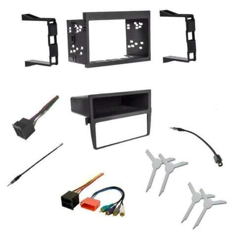 Car Stereo Dash Mount Kit Wire Harness Antenna Adapter and Tool Combo to Install a Single or Double Din Size Aftermarket Radio Made for Porsche: 1999-2001 911 and 1997-2002 Boxster