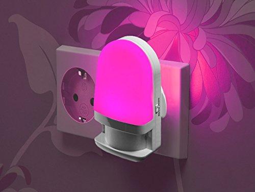 AURA Glow cambia colore spina luce notturna led luce di sicurezza con sensore automatico di luce diurna