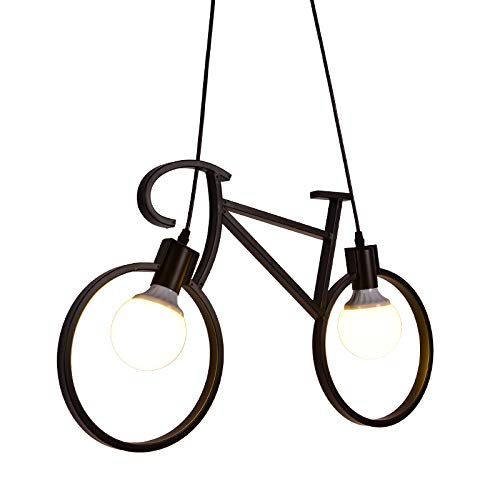 JINHH Modernen E27 LED Fahrrad Pendelleuchten Hängelampe Metall Deckenleuchte Kronleuchter Hängenden Lampen Bar Schlafzimmer Cafés Restaurants Wohnzimmer Küchenlampe Kinderzimmer