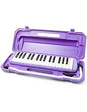鍵盤ハーモニカ ピアニカ 32鍵盤 クロス 音階シール付き 全5カラー