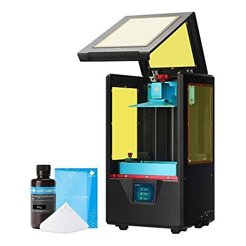 ANYCUBIC 3D Drucker, Photon S UV LCD Resin/Harz Drucker Zwillings Z-AchsenLinearführung und Verbessertes UV Modul & Druckt leise und offline mit Luftfiltersystem, Schwarz