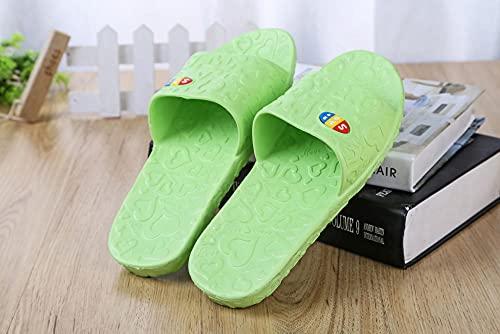 ypyrhh Sandalias Moda Casual,Zapatillas de Moda Love, Sandalias de casa Antideslizantes-Green_36,Lino Zapatillas Interior Sandalias
