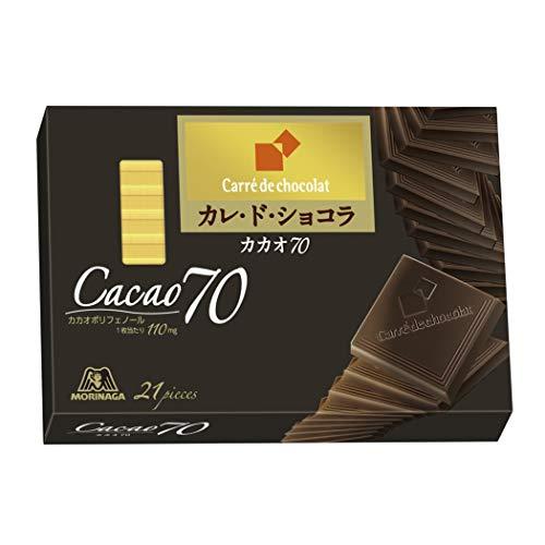 森永製菓 カレ・ド・ショコラ<カカオ70> 21枚×6個