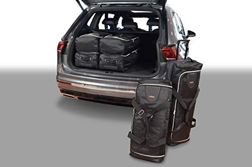 car-bags.com V13301S Set di Borse da Viaggio A 5 Posti Tiguan II Allspace 3X Trolley Bag + 3