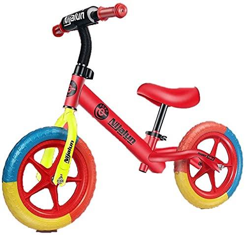MLL Bicicleta de Equilibrio, Bicicleta de Equilibrio de 12', Marco de Acero al Carbono, Bicicleta de Entrenamiento sin Pedal para niños de 2 a 6 años, Manillar y Asiento Ajustables, Regalo