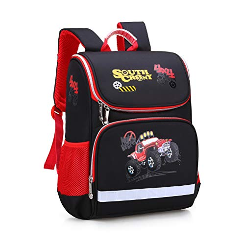 OUTEYE Bolsa Linda de la escuela infantil de dibujos animados Kart Impreso Niños Mochila Moda bolso de escuela Con las bandas reflectoras impermeable