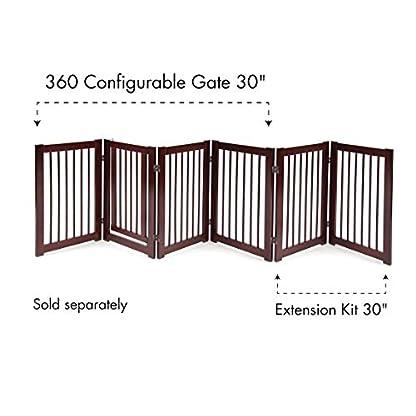 "PRIMETIME PETZ 33233 Extension Kit for 360 Configurable Walk Through Folding Pet Gate,Walnut,30"" 6"