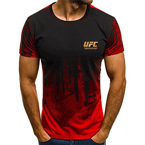 Camiseta Personalizada Top UFC Ultimate Fighting Championship T Shirt Gimnasio Entrenamiento Style 2-S