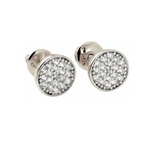 "apop nyc""Mini Twinkle"" Sterling Silver Pave CZ Screw-Back Stud Earrings"