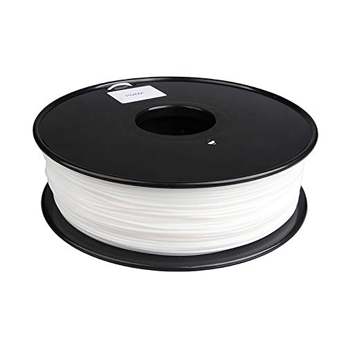 PMMA Acrylic Filament 3D Printing Filament 1.75mm 1 Kg Spool Printing Filament, Dimensional Accuracy +/- 0.02 Mm For 3D Printer (color: Transparent White)(Color:white)
