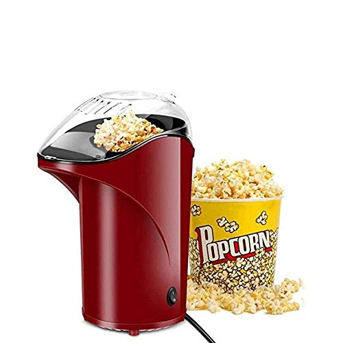 Lowest Price! LKNJLL Popcorn Maker, Popcorn Machine, 1100W Hot Air Popcorn Popper Healthy Machine No...