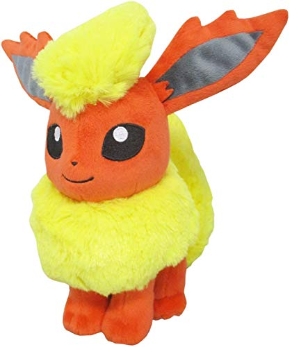 Japanese Import Large 12' Soft & Cute Flareon Pokemon Plush Pokemon Fire Red & Leaf Green