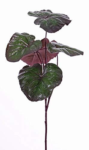 artplants.de Set 3 x Ligularia przewalskii de imitación Nieves, Verde-Violeta, 85cm - Ligularia Artificial - Pack de Plantas de plástico