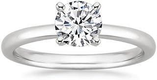 Platinum Solitaire Diamond Engagement Ring Round Brilliant Cut (I Color VS1 Clarity 0.6 ctw)