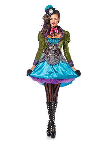Leg Avenue Deluxe Mad Hatter Womens Fancy Dress Costume 2X-Large ...